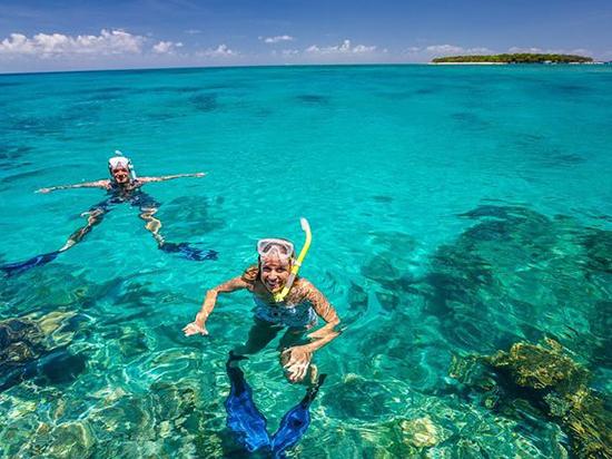 Snorkeling at Mnemba